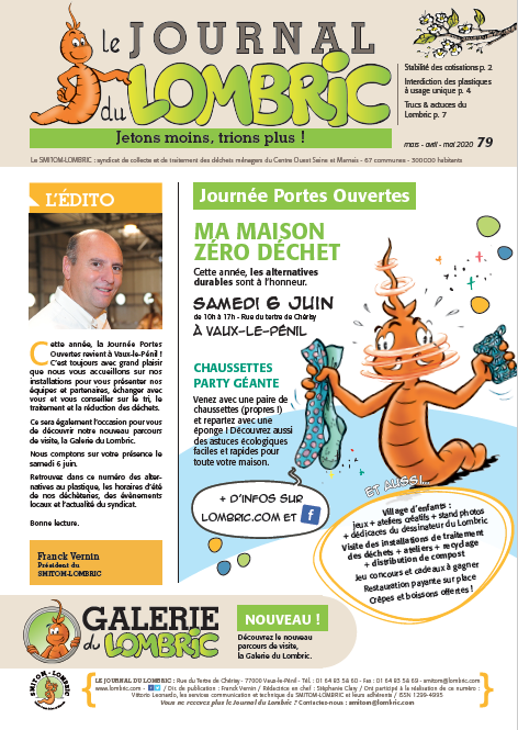 Journal du Lombric n°79 mars, avril, mai 2020